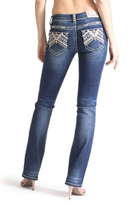 Grace in LA India Embroidered Jeans