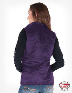 Purple Shimmer Vest With Stretch Side Panels & Branded Embroidery