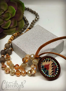 Cheeky's Charlotte Aztec Tassel Necklace - Brown