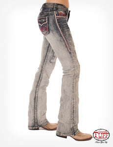 Cowgirl Tuff Red, White & Tuff Jeans