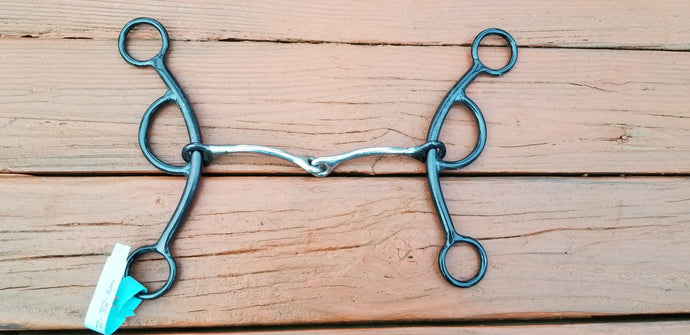 Dutton LZ Gag Bit - 2-pc Smooth Snaffle-Small Diameter