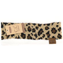 Lined Leopard Print Head Wrap