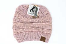 Metallic Pony Tail CC Beanie