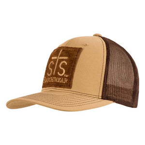 STS Ranchwear Khaki & Coffee Patch Cap
