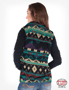 Aztec Vest With Stretch Side Panels