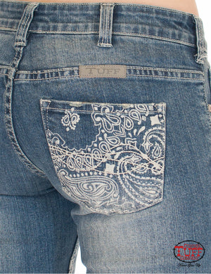 Cowgirl Tuff Beautiful Bandana Jeans