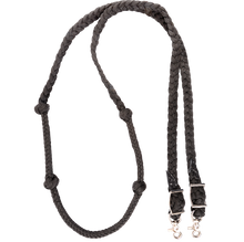 Classic Equine Braided Nylon Barrel Reins with Knots