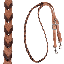 Harness Leather Laced Barrel Racing Reins