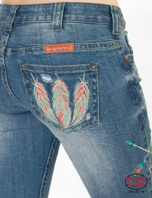 Cowgirl Tuff Fly Free & Brave Jeans