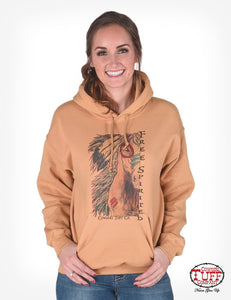 Cowgirl Tuff Gold Dual-Blend Hooded Pullover Sweatshirt With Spirit Horse
