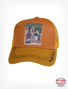 Cowgirl Tuff Gold/Vintage Rodeo Poster Print Cap