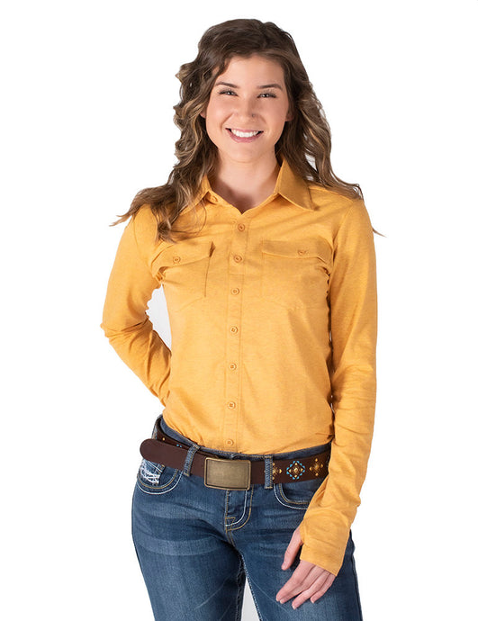 Cowgirl Tuff Heather Gold Sport Jersey Pullover