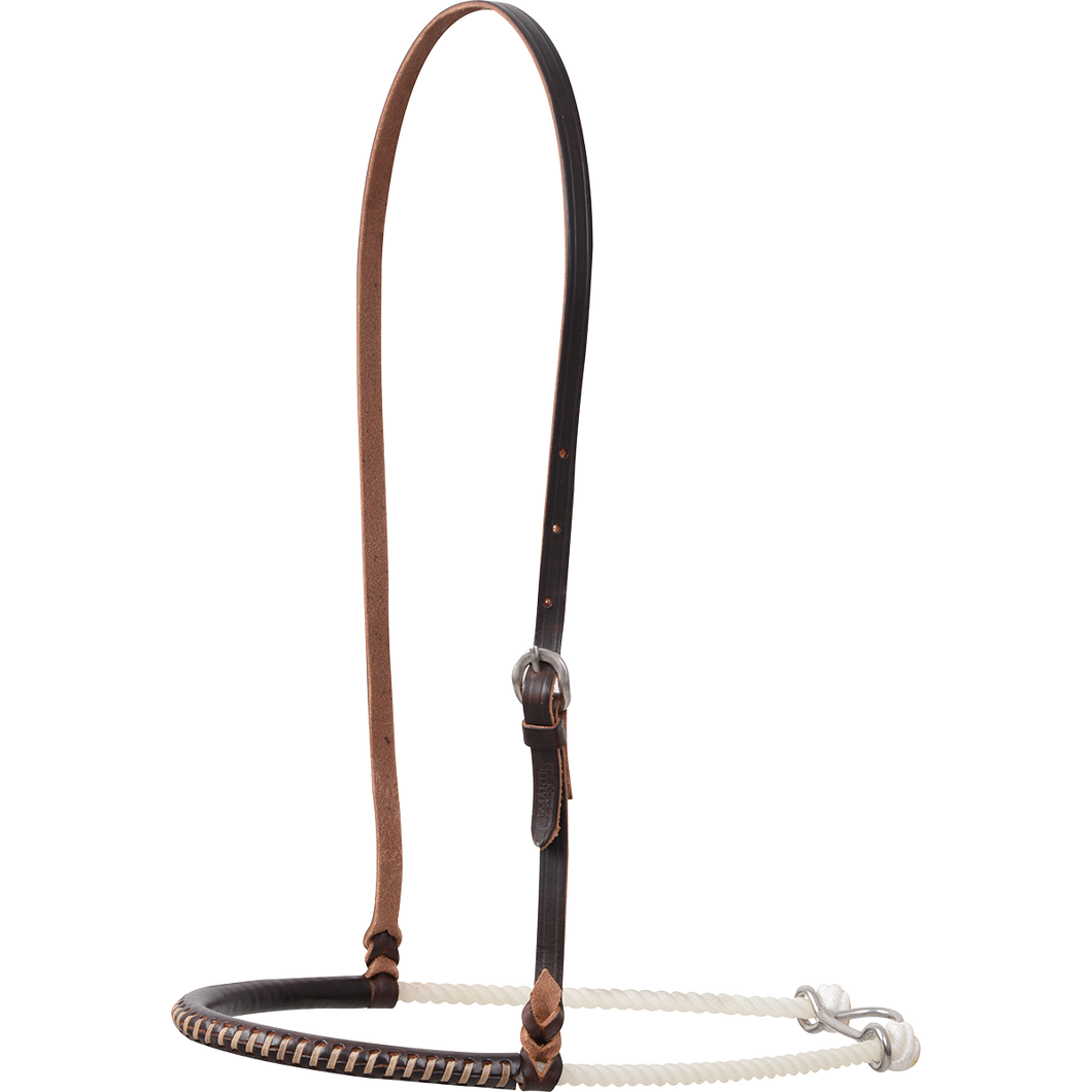 Classic Equine Chocolate Harness Covered Single Rope Noseband