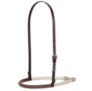 Classic Equine Double Rope Noseband-Braided Rawhide