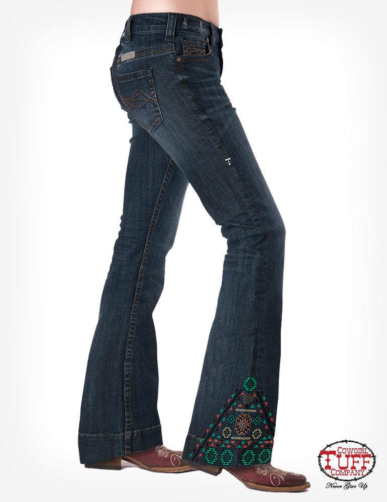 Cowgirl Tuff Southwest Trouser Jeans
