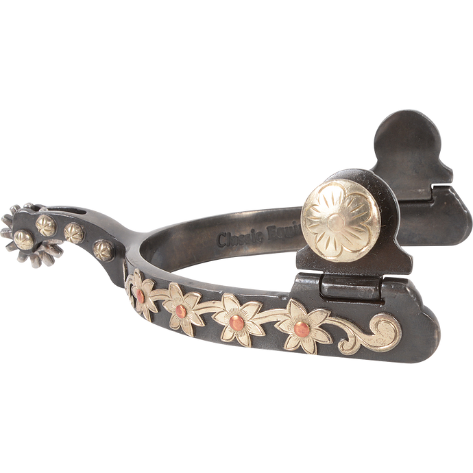 "Classic Equine Flower Series ½"" Band Spur"