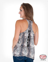"Tiger Print Flowy Tank With ""Fierce"" Print On Back"
