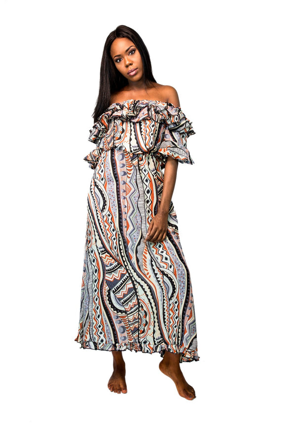 Off Shoulder Gypsy Dress