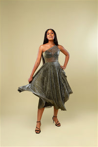 Ife Dress - Metallic