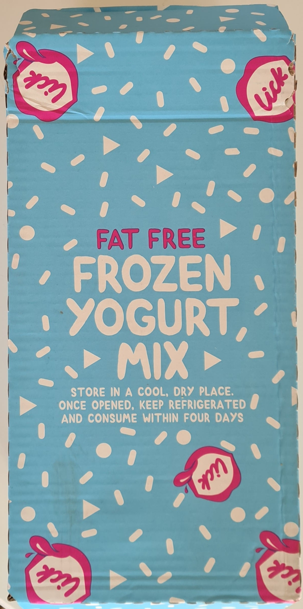LFYM1.12 - Lick Frozen Yogurt Mix - Case of 12 x 1L