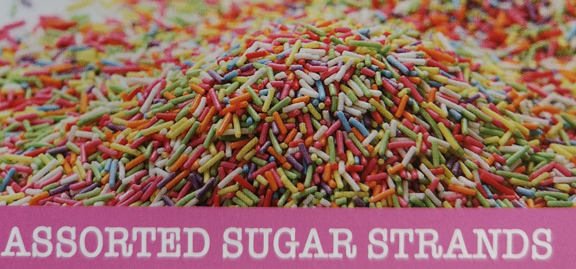 BULK BUY SPR3BULK4 - Assorted Sugar Strands(4 x 3kg bags) Was: €42.00 NOW: €37.50