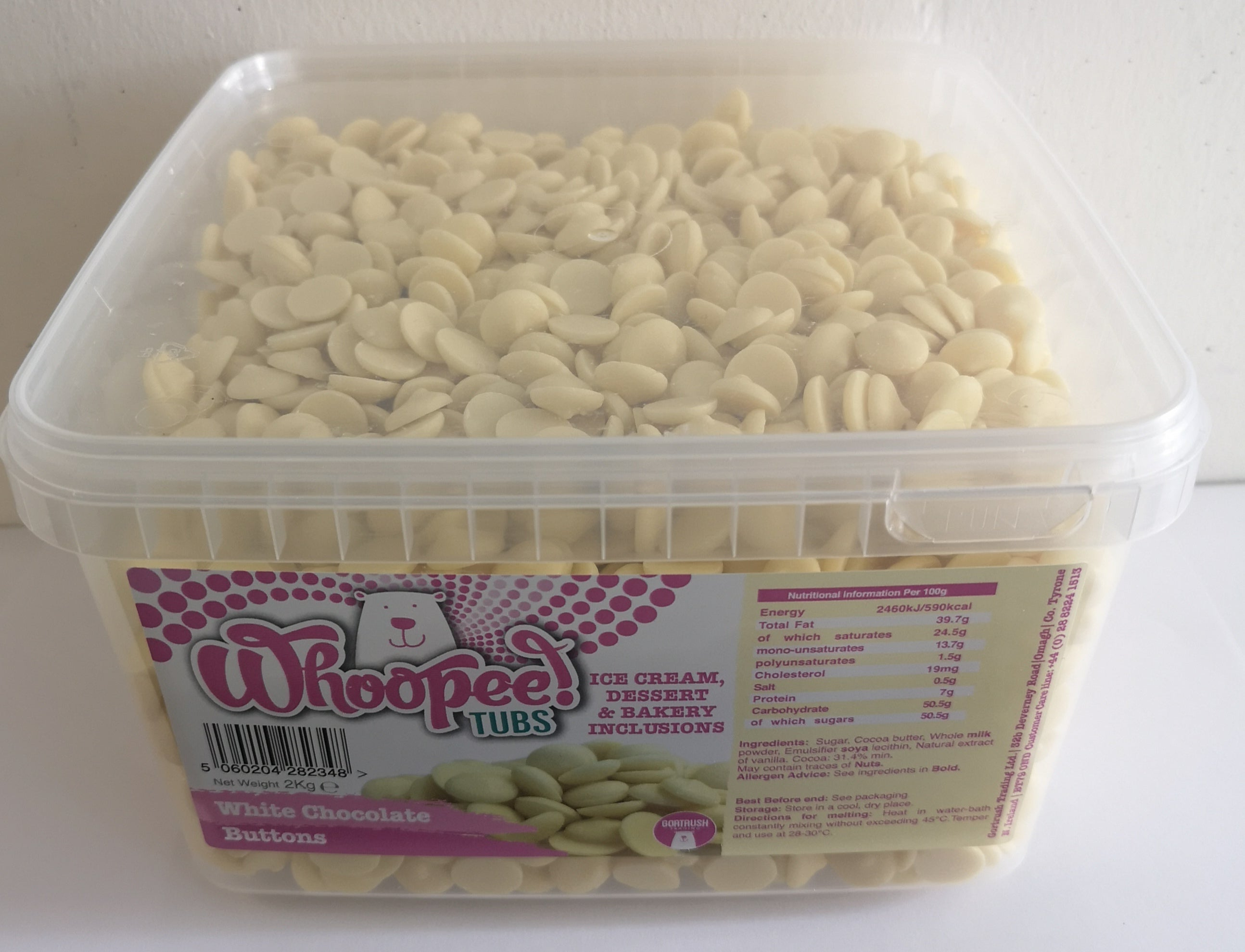BULK BUY WCB2BULK4 - BULK BUY White Chocolate Buttons (4 x 2kg) Was: €79.80 NOW: €74.00