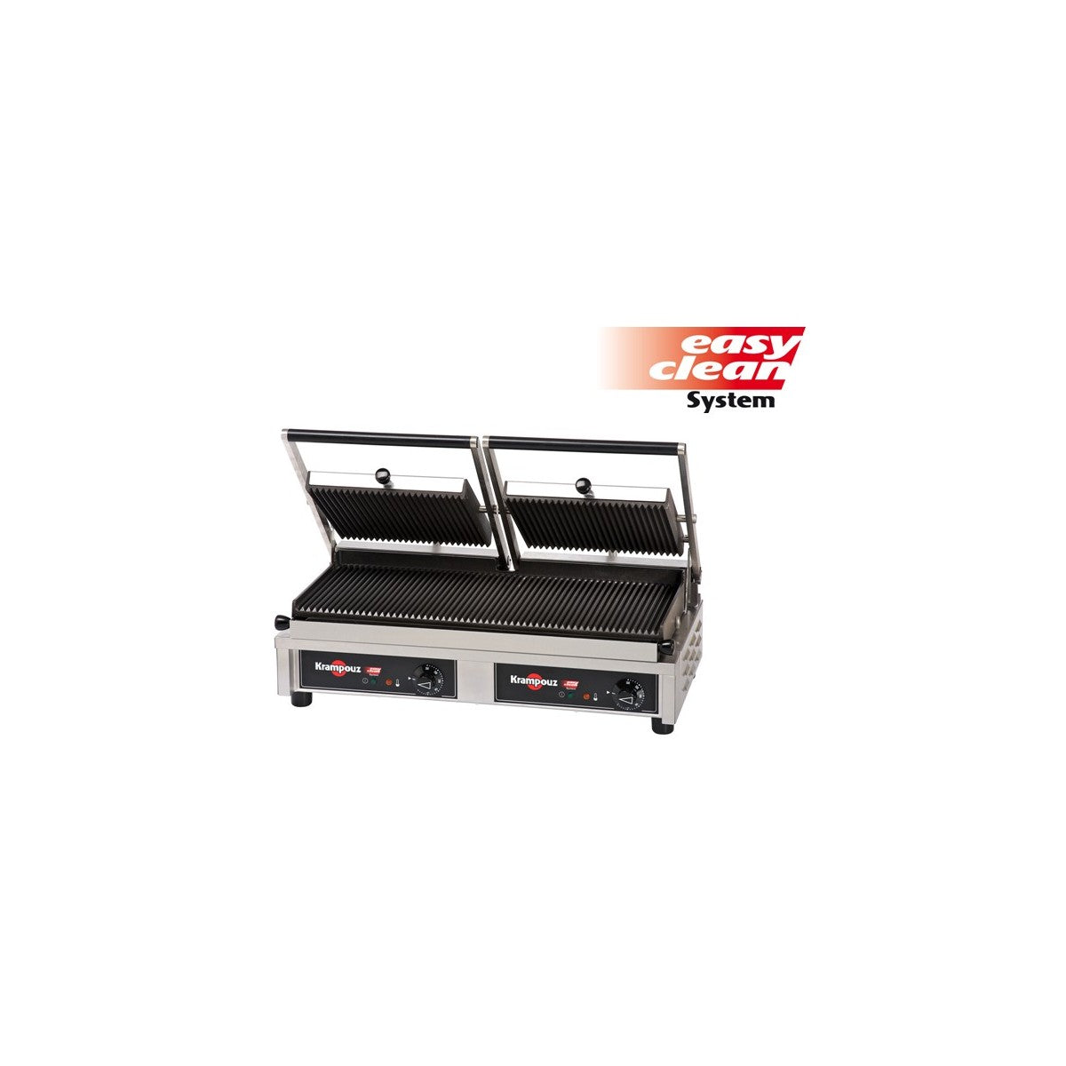GECID5BO - Multi Contact Grill Large - Ribbed plates top, smooth plate bottom - Krmpouz