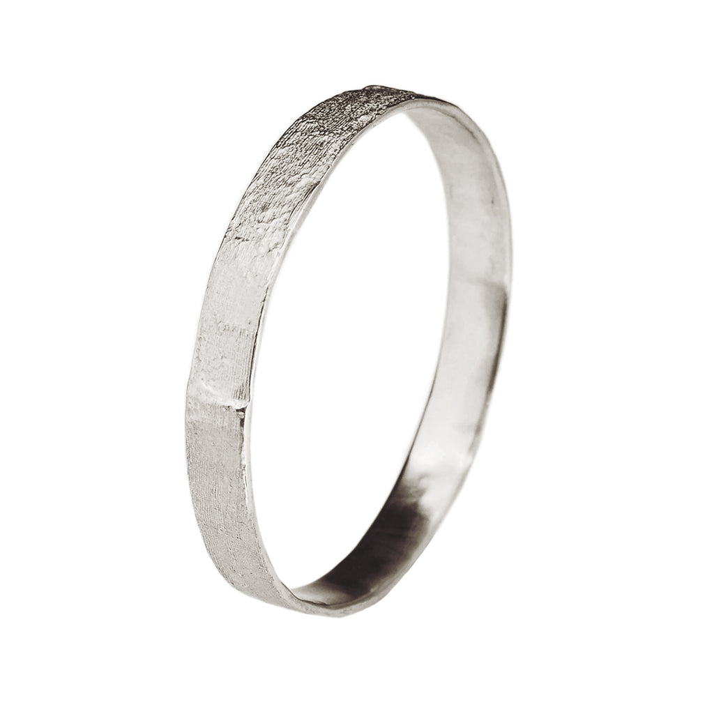 Silk Textured Bangle, Sterling Silver