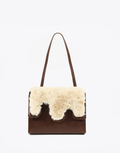Neely & Chloe Shearling Mod Shoulder Bag