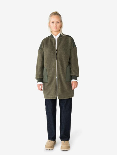 Holden Long Shearling Womens Coat