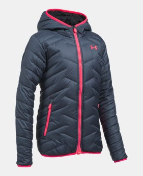 57f0a19d2 Under Armour ColdGear Reactor Yonders Girls Hooded Jacket | Hickory ...