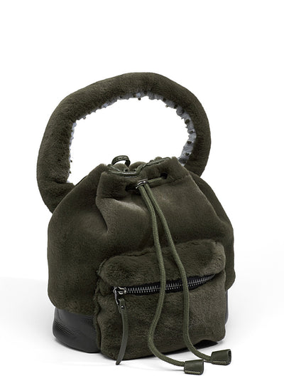 Love Binetti Maaya Faux Fur Bucket Bag