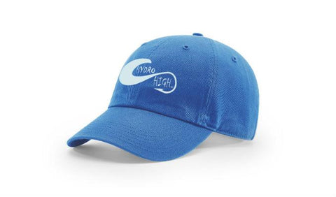 Hydro High Light Blue Hook & Wave Logo Cotton Hat
