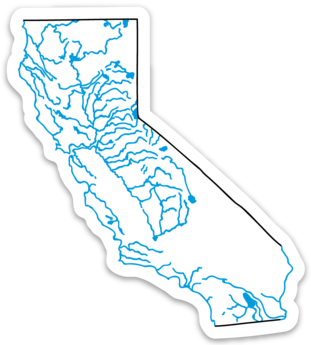 "California State Waterways Sticker 3.14"" x 3.5"""