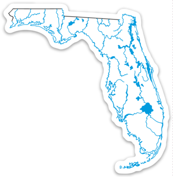 "Florida State Waterways Sticker 3.41"" x 3.5"""