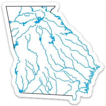 "Georgia State Waterways Sticker 3.47"" x 3.5"""