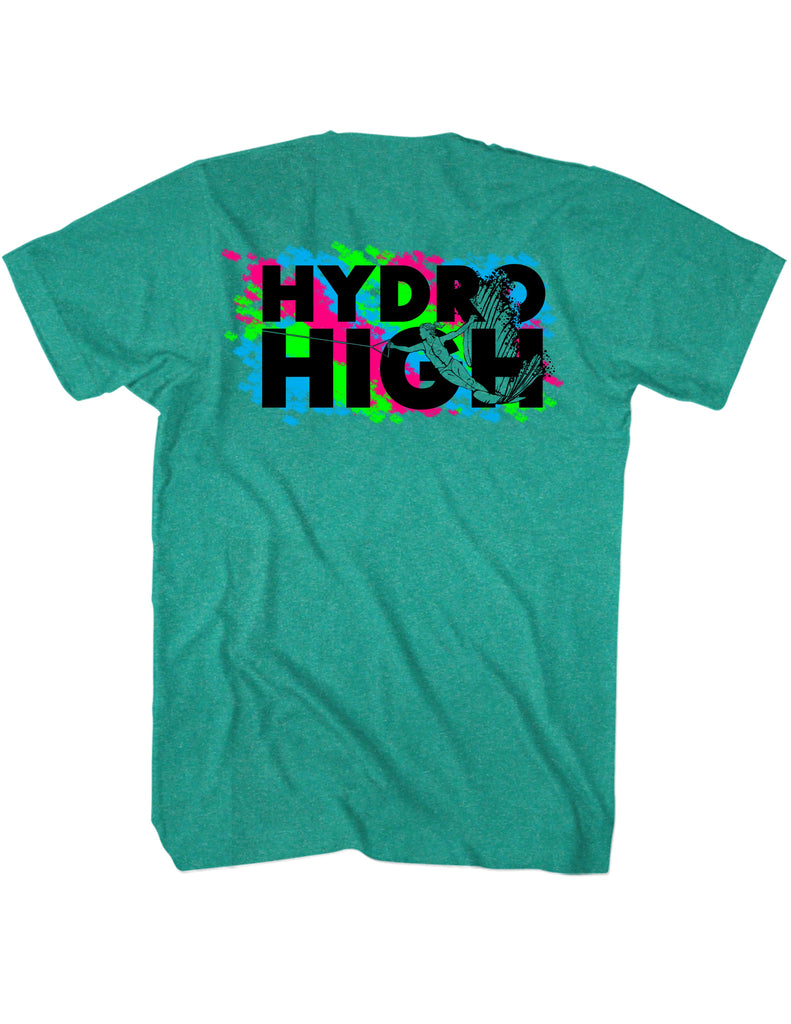 Hydro High Waterski Girl T-Shirt Back Design