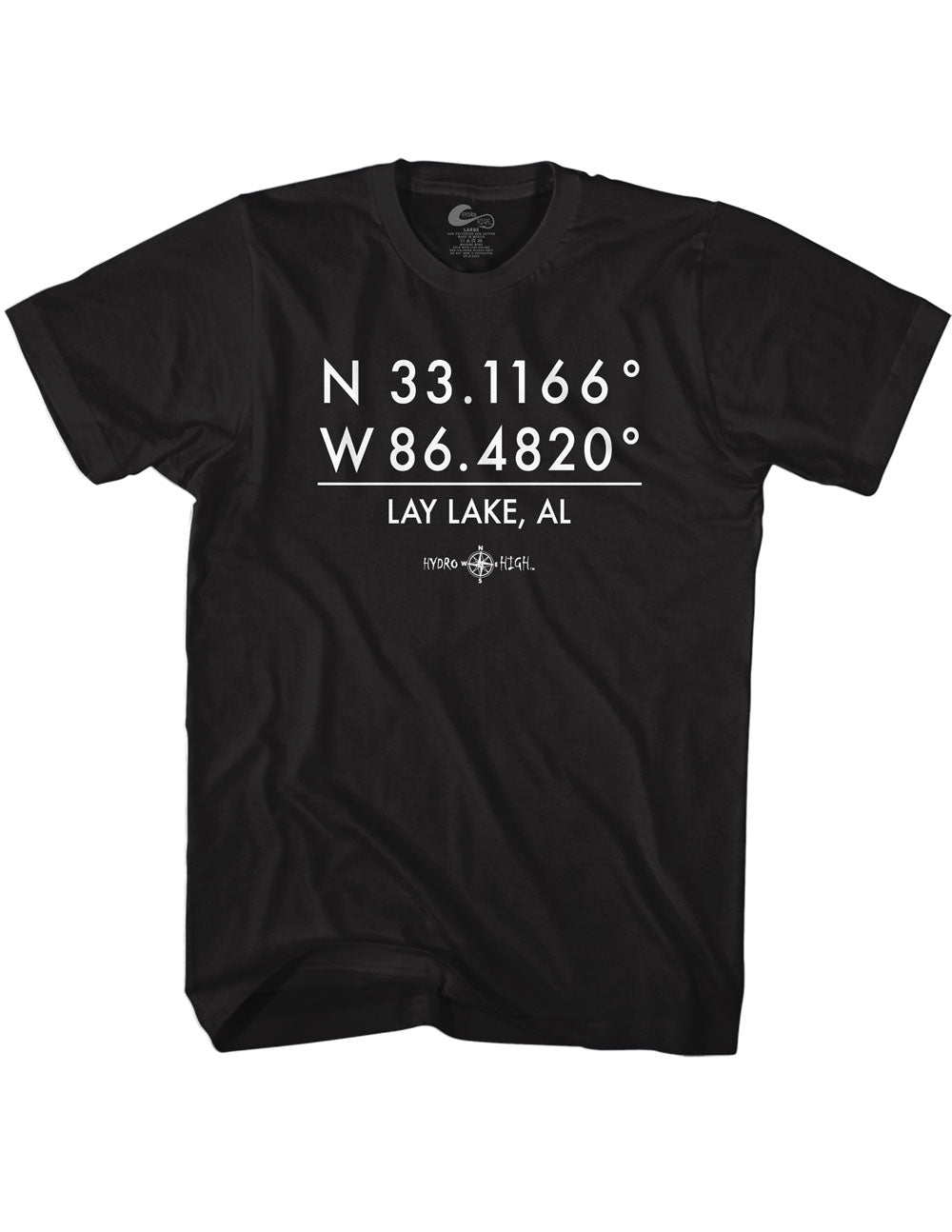 Lay Lake GPS Coordinates T-Shirt
