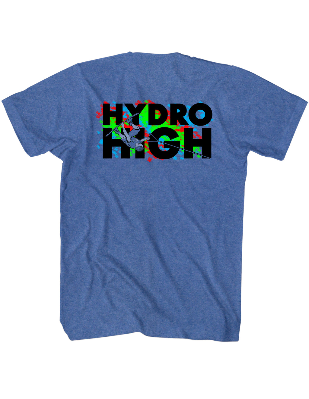 Hydro High Wakeboard Guy T-Shirt Back Design