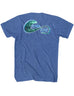 Hook & Wave Ocean Colors Logo T-Shirt Back Design