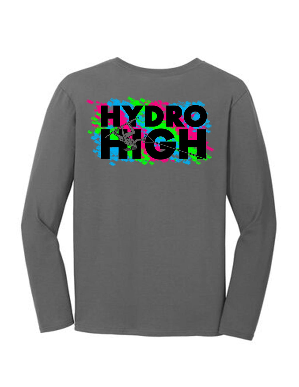 Hydro High Wakeboard Girl Long Sleeve T-Shirt Back Design