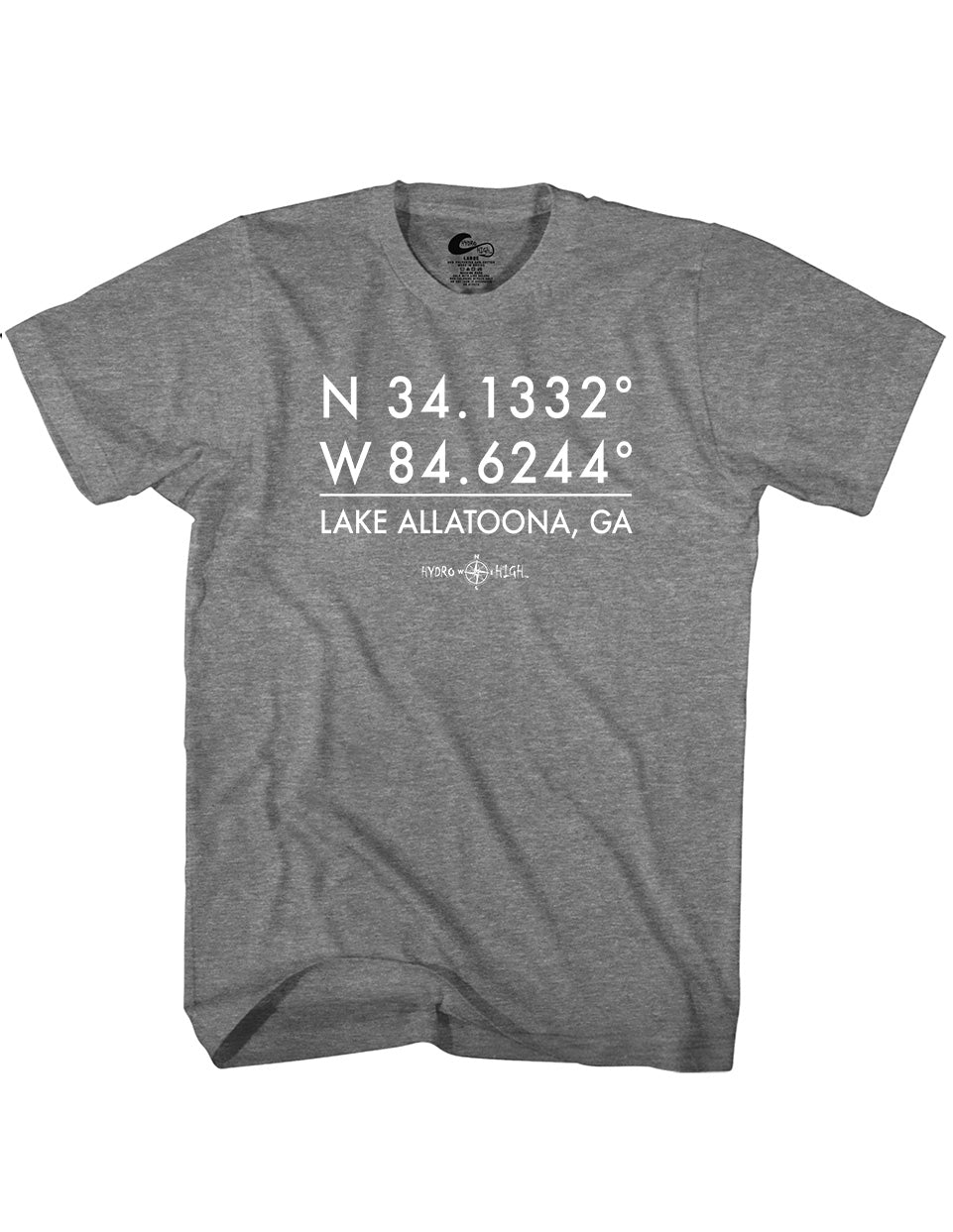 Lake Allatoona GPS Coordinates T-Shirt