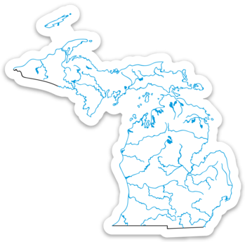 "Michigan State Waterways Sticker 3.55"" x 3.5"""