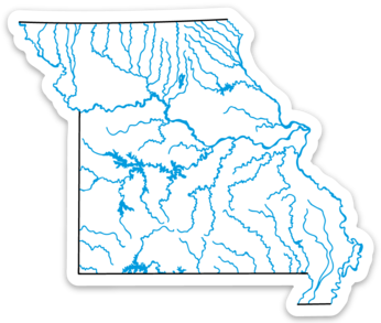 "Missouri State Waterways Sticker 3.5"" x 2.95"""