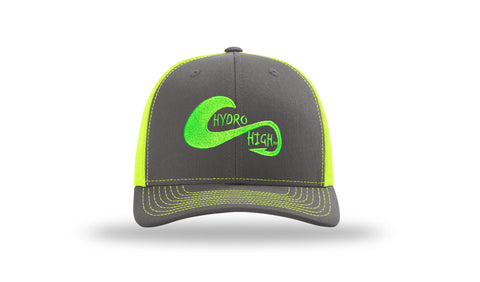 Hydro High Hook & Wave Logo Neon Yellow Trucker Hat