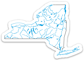 "New York State Waterways Sticker 3.5"" x 2.49"""