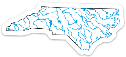 "North Carolina State Waterways Sticker 4.55"" x 2"""