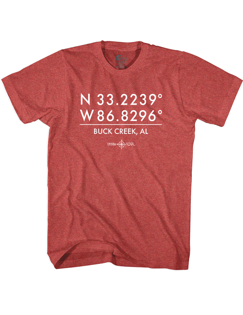 Buck Creek GPS Coordinates T-Shirt