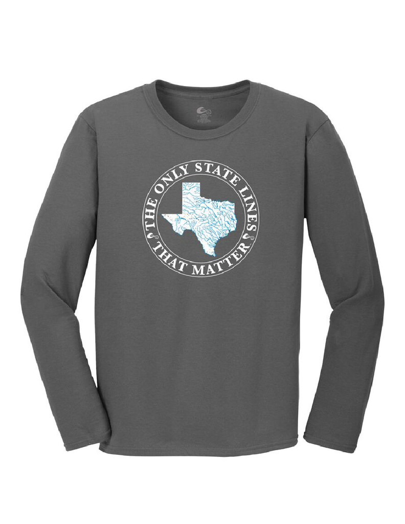 Texas State Waterways Long Sleeve T-Shirt