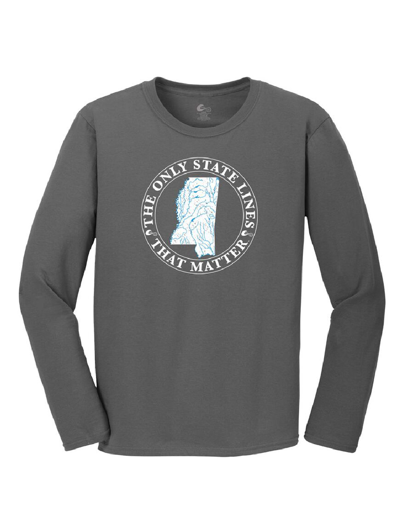 Mississippi State Waterways Long Sleeve T-Shirt